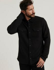 Lucky Brand Knit Thermal Lined Western Shirt