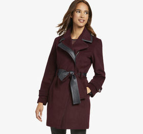 Johnston Murphy Belted Wool Coat