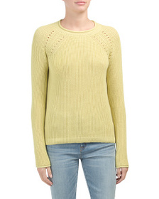 reveal designer Textured Sweater With Side Zippers