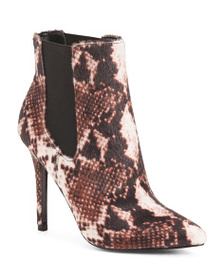 CHARLES BY CHARLES DAVID Pointy Toe Faux Fur Boots