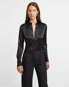 Stretch Satin Perfect Fitted Shirt