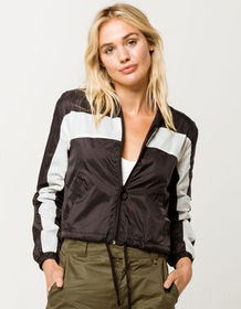 FULL TILT Colorblock Black Womens Windbreaker_
