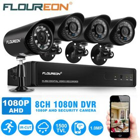 FLOUREON Home Security Systerm, 8 CH House Securit