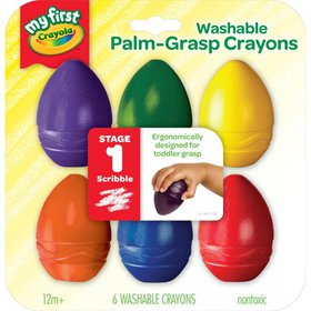 Crayola My First Washable Palm-Grasp Crayons For T