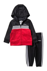 adidas Colorblock Tricot Jacket & Pants Set (Baby