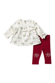Petit Lem Christmas Print Tunic & Leggings Set (Ba