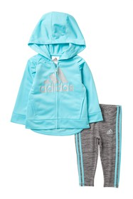 adidas Tricot Hooded Jacket & Legging Set (Baby