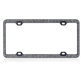 VALOR White Crystals Black Metal Frame with Double