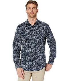 Perry Ellis Stretch Long Sleeve Woven Shirt