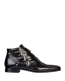 Givenchy Men's Dallas Triple-Monk Strap Leather An