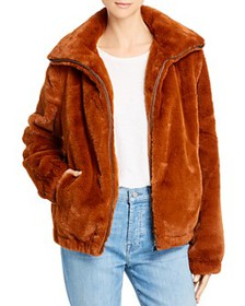 Splendid - Zip Faux Fur Jacket