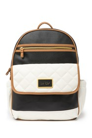 Nicole Miller Miller Two-Tone Quilted Backpack Bab