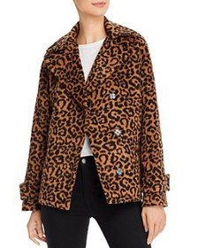Splendid - Leopard Print Double-Breasted Jacket