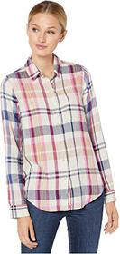 Lucky Brand Blue Classic One-Pocket Plaid Shirt
