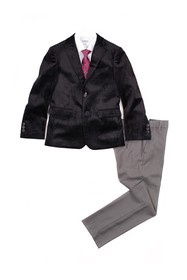 Isaac Mizrahi Velvet Slim Fit 4-Piece Suit (Toddle