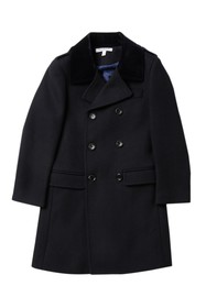 Isaac Mizrahi Wool Blend Peacoat (Big Boys)