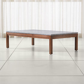 Crate Barrel Parsons Grey Marble Top/ Elm Base 60x