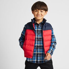 KIDS FLANNEL CHECKED LONG-SLEEVE SHIRT, BLUE, medi