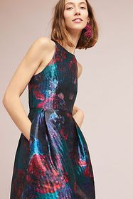 Anthropologie Jardin Brocade Dress