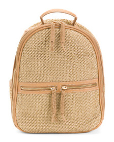 TOMMY BAHAMA Tan Woven Straw Backpack