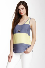 French Connection Bold Block Striped Tank
