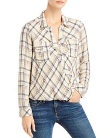Splendid - Plaid Crossover Top