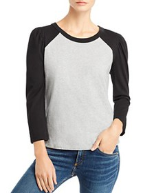 Splendid - Puff-Sleeve Baseball Tee