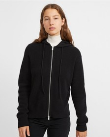 Cashmere Hooded Zip Sweater