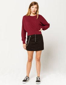 FULL TILT Half Zip With Chain Womens Mini Skirt_