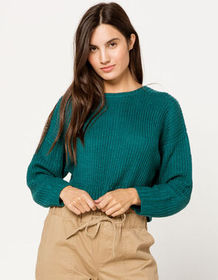 FULL TILT Crew Neck Crop Womens Sweater_