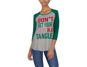 Natural Reflections Tinsel in a Tangle Long-Sleeve