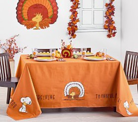 Pottery Barn Peanuts® Thanksgiving Tablecloth