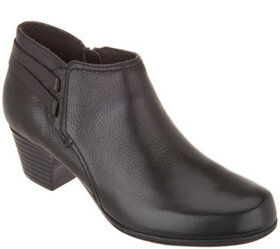 Clarks Collection Leather Strap Booties - Valarie