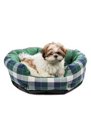 Duck River Textile Hasley Round Pet Bed - Green Pl