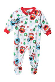 AME Sesame Street Fleece Footie Pajamas (Baby Boys