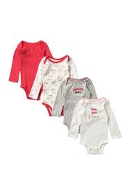 koala baby Long Sleeve Christmas Bodysuits - Set o