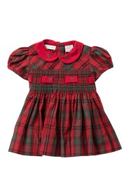 Carriage Boutique Plaid Short Sleeve Dress (Baby G