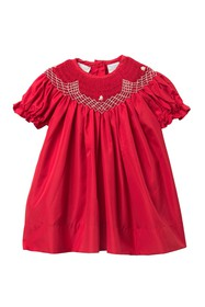 Carriage Boutique Long Sleeve Dress (Baby Girls)