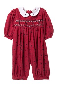 Carriage Boutique Long Sleeve Romper (Baby Girls)