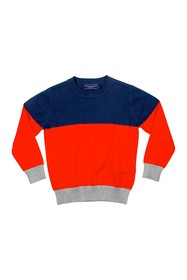 Toobydoo Colorblock Crew Neck Sweater (Toddler