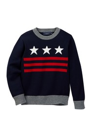 Toobydoo Valentin Stars Sweater (Toddler & Little
