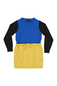 Toobydoo Colorblock Sweater Dress (Toddler & Littl