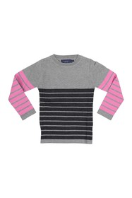 Toobydoo Stripe Print Sweater (Toddler & Little Gi