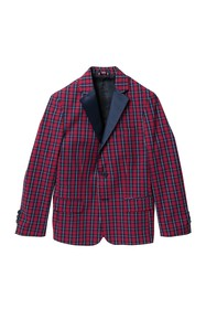 Tommy Hilfiger Holiday Blue Tartan Plaid Blazer (B