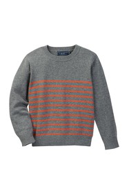 Toobydoo Harrison Striped Sweater (Toddler & Littl
