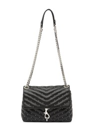 Rebecca Minkoff Edie Leather Quilted Studded Cross