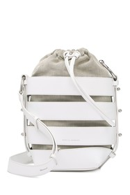 Rebecca Minkoff Cage Leather Convertible Bucket Ba