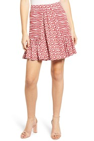 Rebecca Minkoff Cassia Floral Pleated Skirt