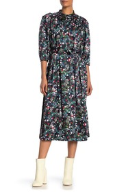Rebecca Minkoff Tina 3/4 Sleeve Floral Print Dress