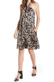 Rebecca Minkoff Winnie Floral Halter Neck Dress